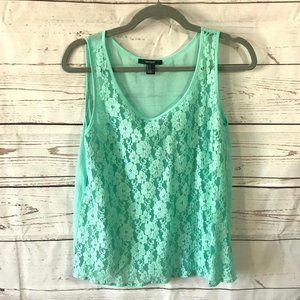 *3/$18*Forever 21 Sheer Lace Tank Top